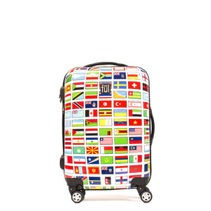 Flags 20in Spinner Rolling Luggage