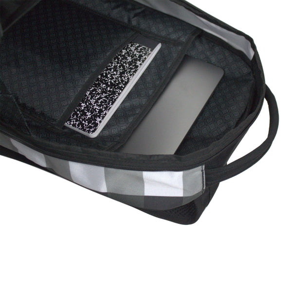 "Marlon 19"" Black/White Check Pattern FŪL Tech Backpack-Ful Luggage-Christmas-Sale!-50%-Off-with-code-HolidayFul50"