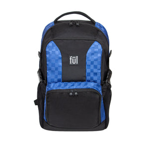 Jasper Blue Checkerboard FŪL Tech Backpack-Ful Luggage-Christmas-Sale!-50%-Off-with-code-HolidayFul50