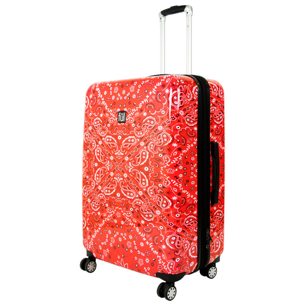 Bandana Hard Sided Luggage, 29, 25, and 21in Suitcases-Ful Luggage Christmas Sale