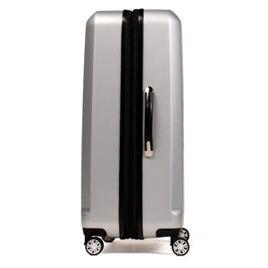Urban Grid 21 Inch Expandable Spinner Rolling Luggage Suitcase, Silver