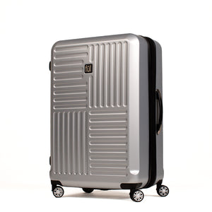 Urban Grid 25 Inch Spinner Rolling Luggage, Silver