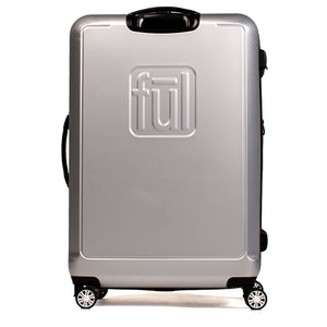 Curve Geo 29 Inch Expandable Spinner Rolling Luggage, Silver