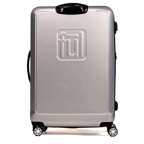 Curve Geo 21 Inch Expandable Spinner Rolling Luggage, Silver