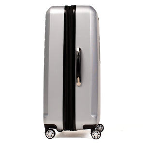 Curve Geo 25 Inch Spinner Rolling Luggage, Silver