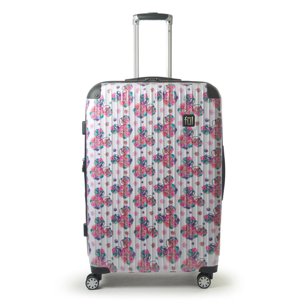 FŪL Disney Minnie Mouse Floral Hardsided Rolling Luggage 3 Piece Set