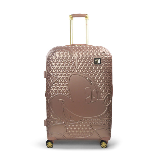FŪL Disney Textured Mickey Mouse 25in Hard Sided Rolling Luggage-Ful Luggage-Christmas-Sale!-50%-Off-with-code-HolidayFul50