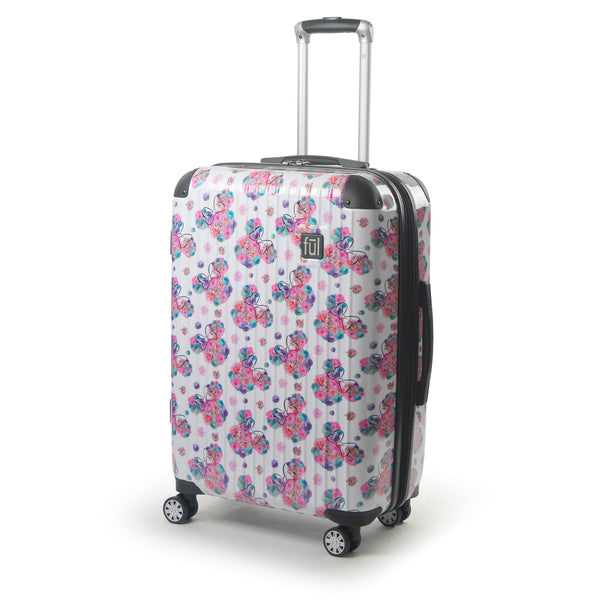 "FŪL Disney Minnie Mouse  Floral 25"" Printed Hardsided Rolling Luggage"