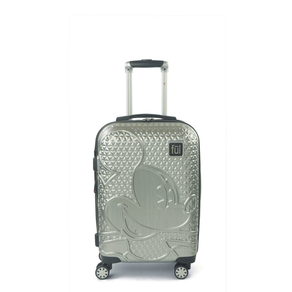 FŪL Disney Textured Mickey Mouse 21in Hard Sided Rolling Luggage