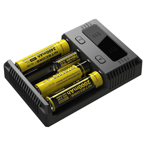 NITECORE NEW I4 INTELLICHARGER BATTERY CHARGER - FOUR BAY - Ohm City Vapes