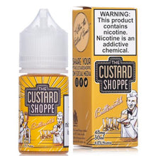 The Custard Shoppe Butterscotch Salt 30mL - Ohm City Vapes