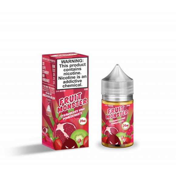 Fruit Monster Strawberry Kiwi Pomegranate Salt 30mL - Ohm City Vapes