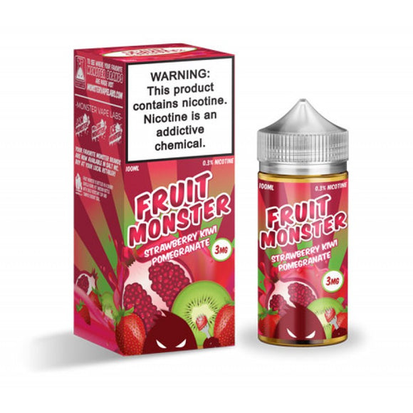 Fruit Monster Strawberry Kiwi Pomegranate 100mL - Ohm City Vapes