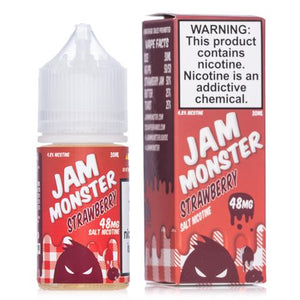 Jam Monster Strawberry Salt 30mL - Ohm City Vapes