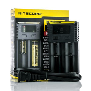NITECORE NEW I2 INTELLICHARGER BATTERY CHARGER - TWO BAY - Ohm City Vapes