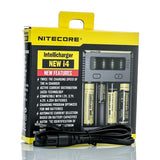 NITECORE NEW I4 INTELLICHARGER BATTERY CHARGER - FOUR BAY - The King of Vape