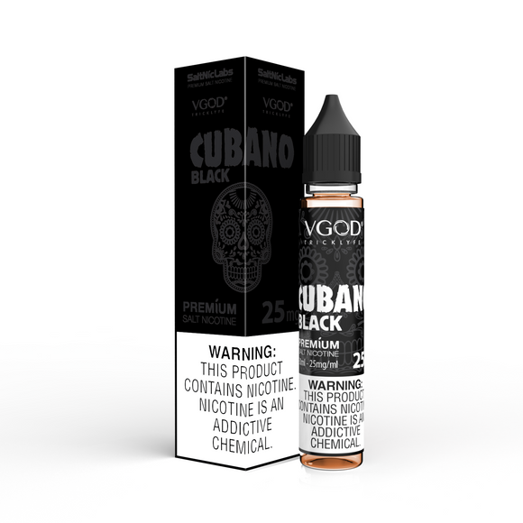 VGOD Cubano Black SaltNic 30mL - Ohm City Vapes