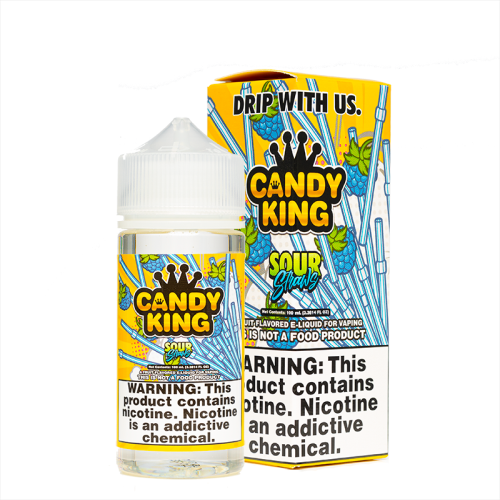 Candy King Sour Straws 100mL | Ohm City Vapes