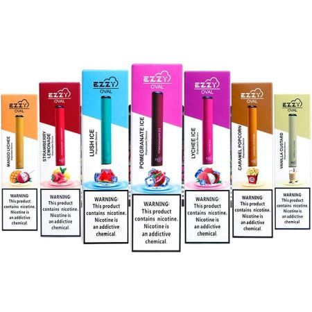 Ezzy Oval Disposable Vape Device 10PK Flavors - Ohm City Vapes