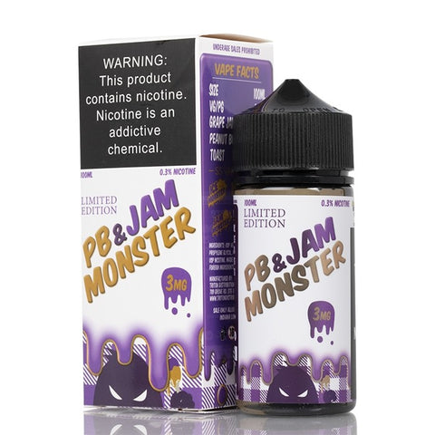 Grape by PB And Jam Monster E Liquid - 100ml - Ohm City Vapes