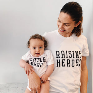 LITTLE HERO ONESIE - Anchor & Nest