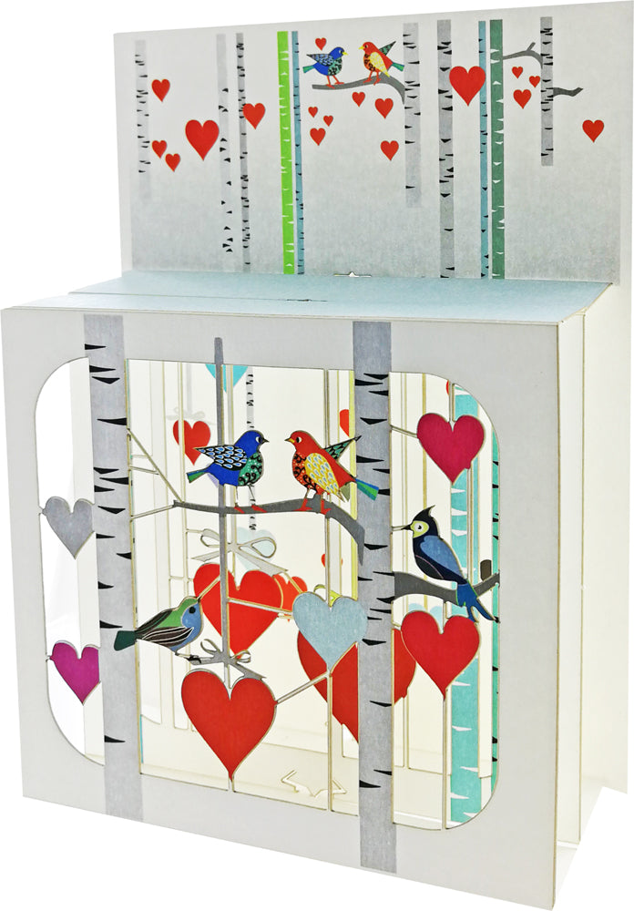BX205 Birds and Hearts Magic Box
