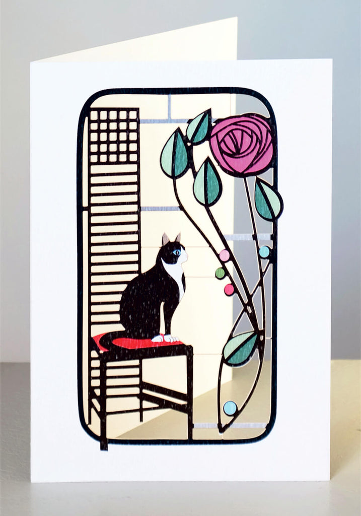 Mackintosh Cat with rose