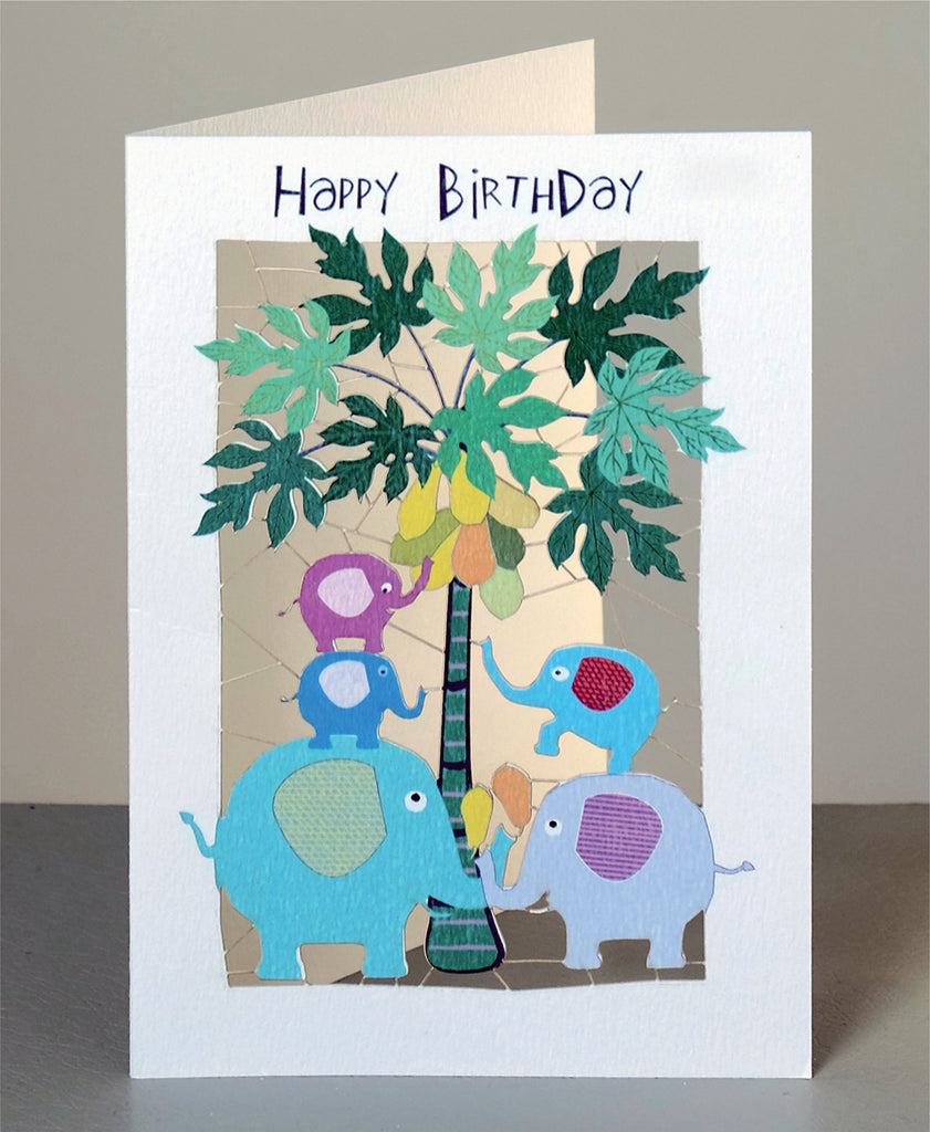 PM112- Birthday elephants and palm tree