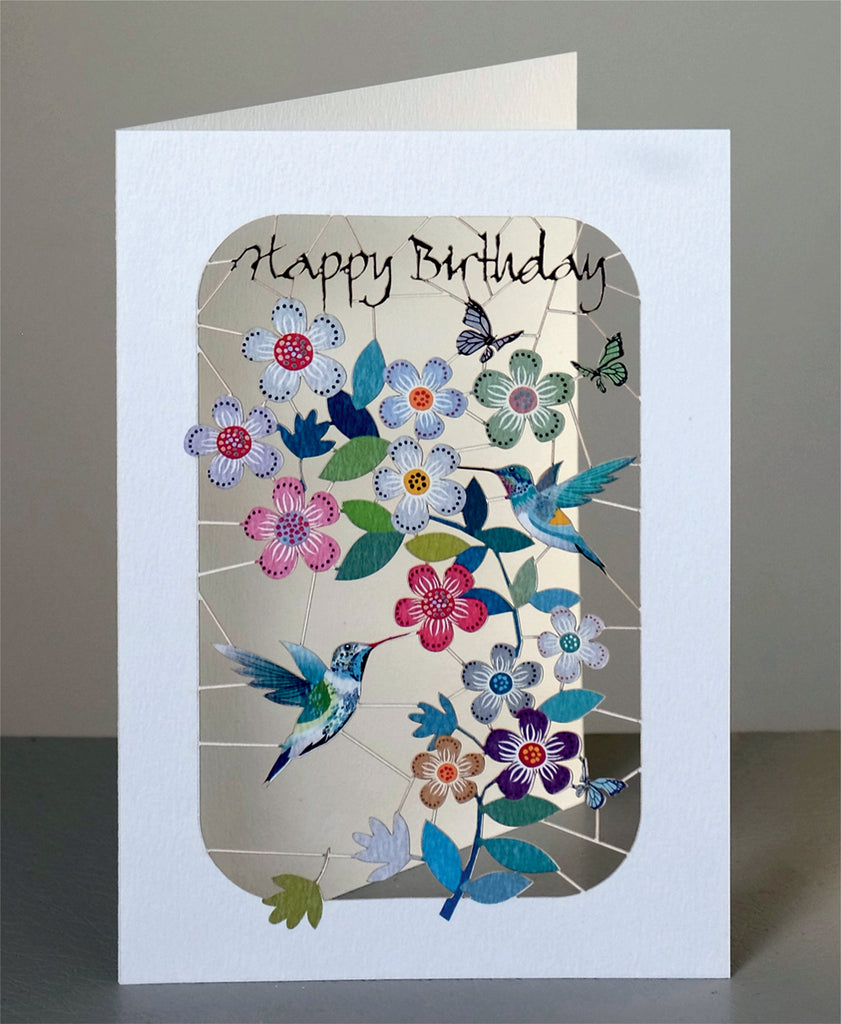 PM262 Happy Birthday Hummingbirds