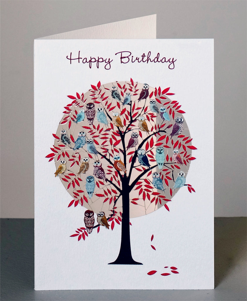 PM865- Birthday tree and owls