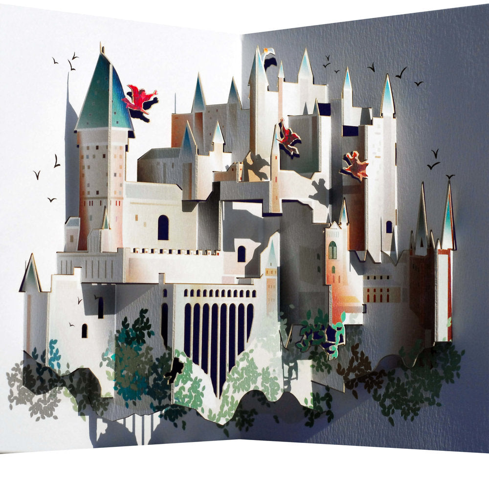 POP90 Inspired by Harry Potter Hogwarts Castle Pop Up Greeting Card