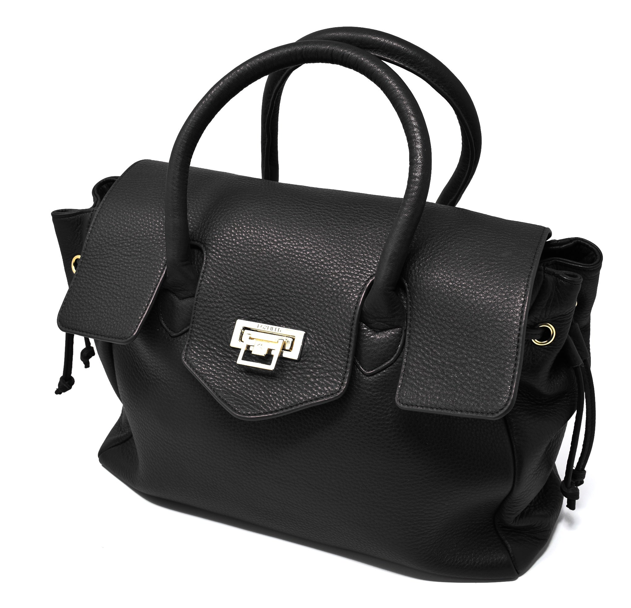 Foxfield - Hawkshead Black Leather Handbag