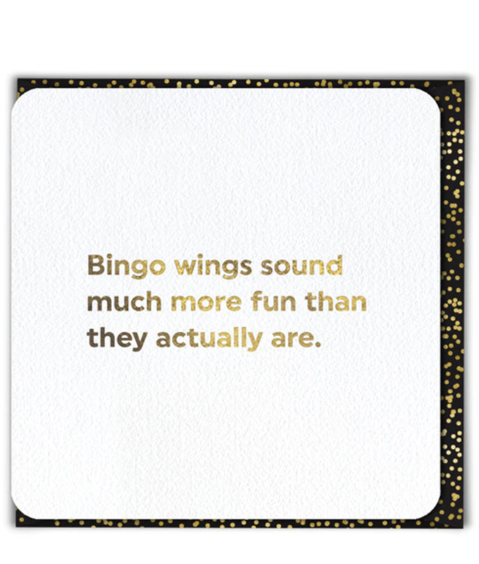 Greeting Card - Bingo Wings