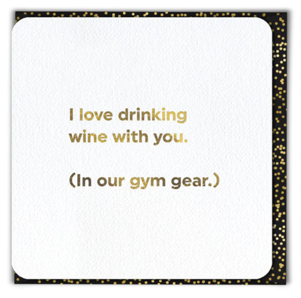 Greeting Card - Drinking in Gym Gear