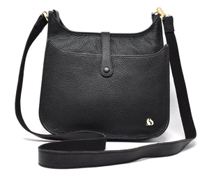 Foxfield - Appleby Black Leather Handbag