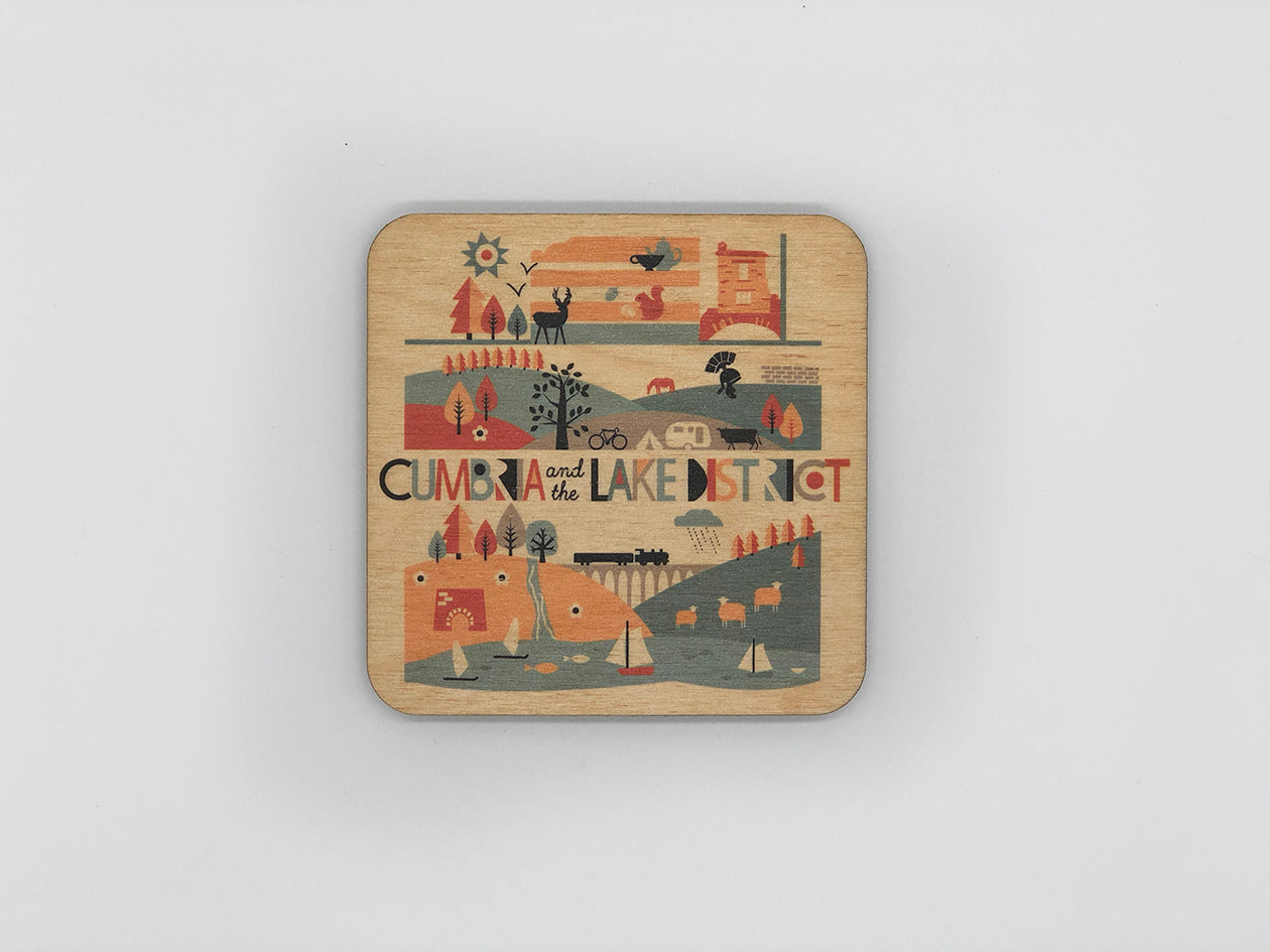 Cumbria & The Lake District Matte Coaster
