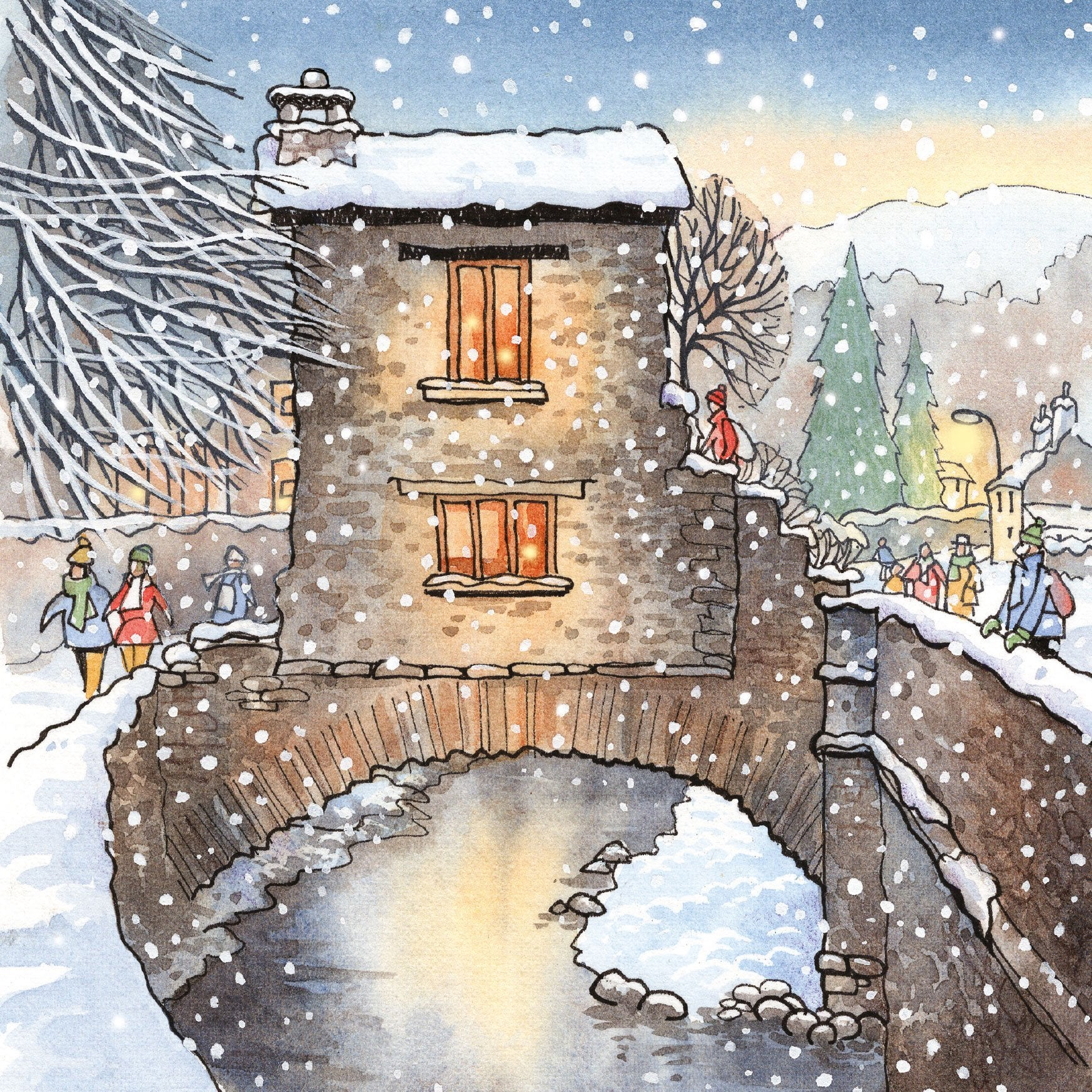 Nostalgic Lake District Christmas - 6 cards