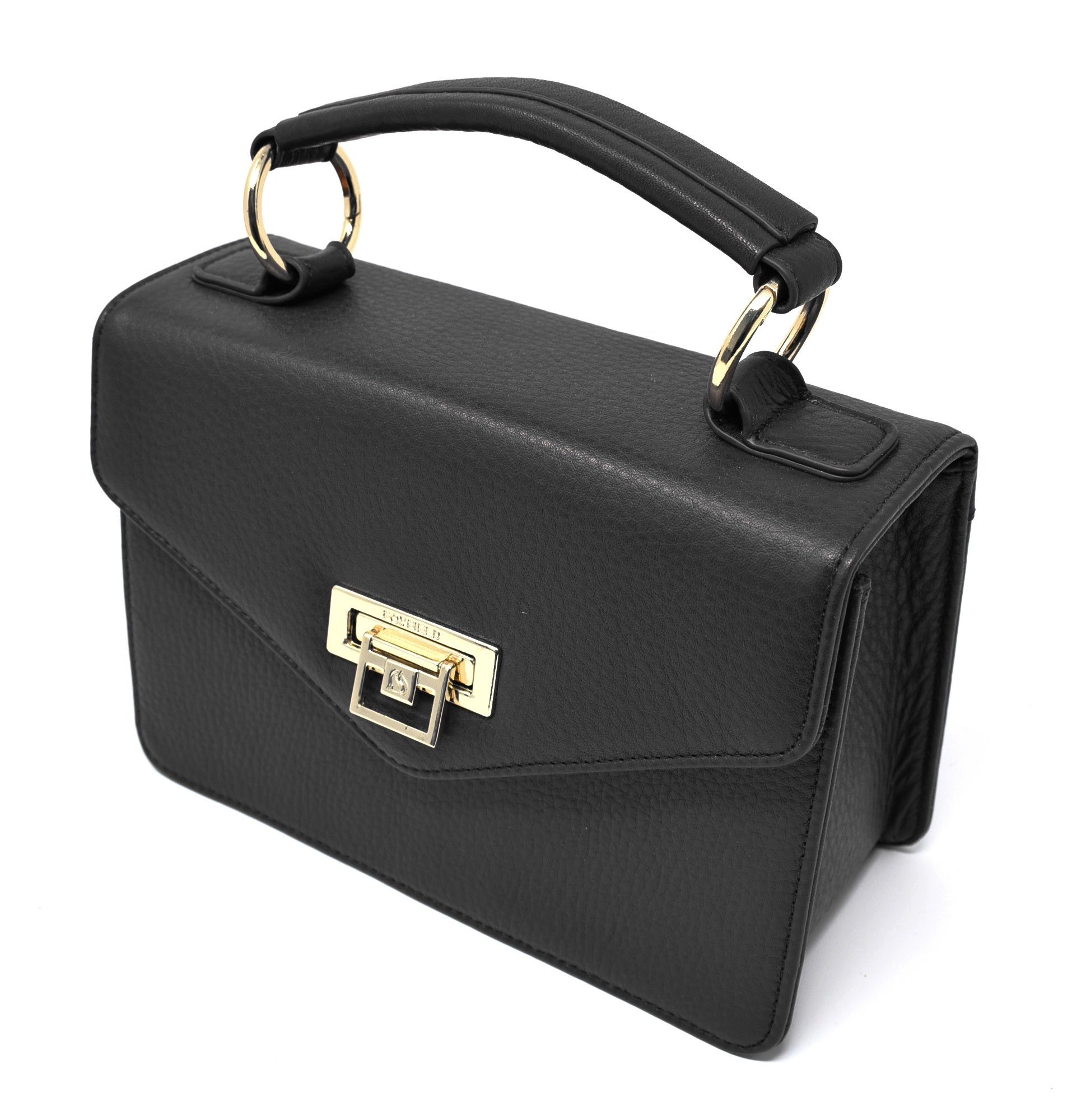 Foxfield - Dent Black Leather Handbag