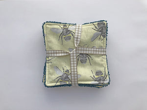 Reusable Face Wipes - Bees