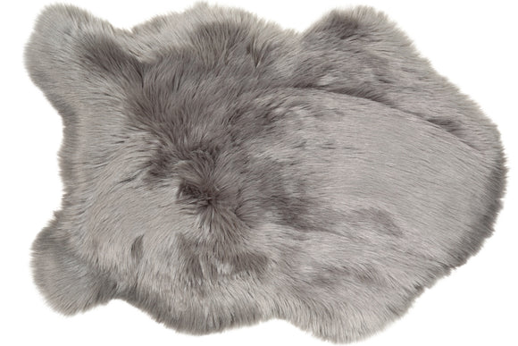 GREY FAUX SHEEPSKIN RUG