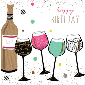 Greeting Card - Birthday Vino