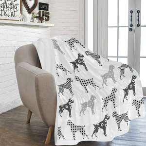 Lolly Boxer Dog White Blanket