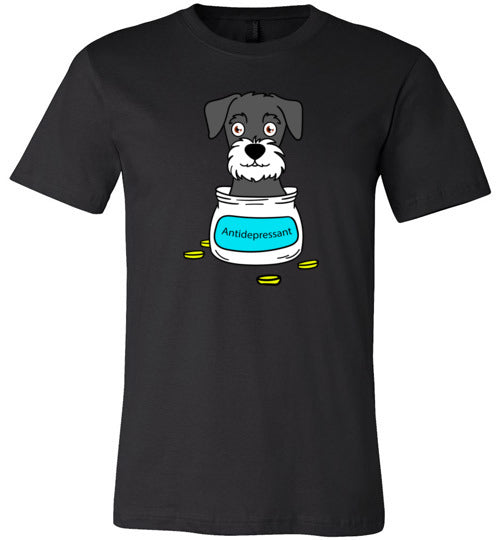 Antidepressant Schnauzer Premium Fitted Men/Unisex T-shirt