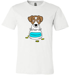 Antidepressant Jack Russell Premium Fitted Men/Unisex T-shirt