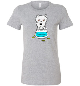 Antidepressant Westie Premium Fitted Lady T-shirt