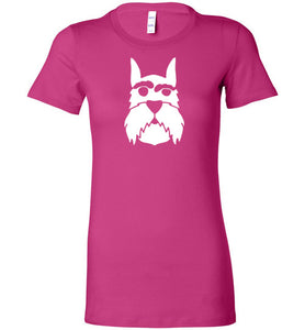 I love Schnauzer Premium Fitted Lady Tee