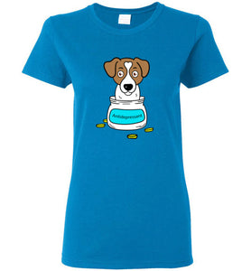 Antidepressant Jack Russell Classic Lady T-shirt