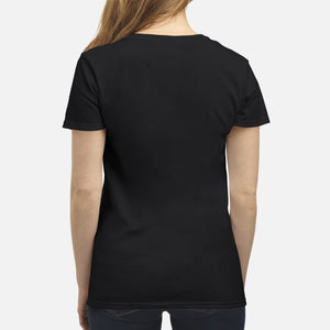 German Shepherd Through The Snow - Premium Women's T-shirt