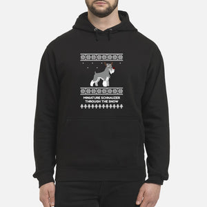 Miniature Schnauzer Through The Snow - Unisex Hoodie