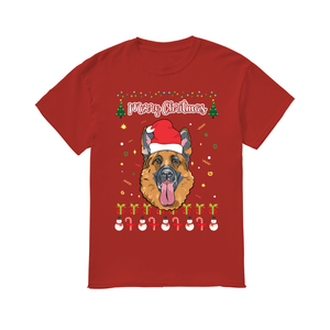 Merry Christmas German Shepherd - Men's T-Shirt